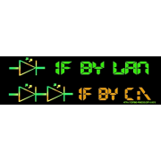 One if by LAN, Two if by C:\ Keywords: one lan two sea c 1 2 LED electronics symbols C:\