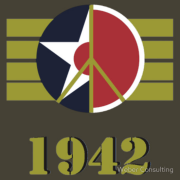 1942 Peace Symbol US Army Air Corps / Japanese Airforce Keywords: wwii, us army, air corps, japanese, zero, peace, 1942, veterans, day, memorial