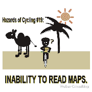 bicycling hazards bad gps and inability to read maps Keywords: bicycling hazards gps inability read maps