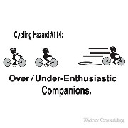 Cycling hazards Overenthusiastic under enthusiastic over under enthusiastic companions Keywords: Cycling hazards Overenthusiastic under enthusiastic over under enthusiastic companions