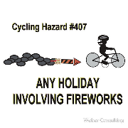 cycling hazards any holiday involving fireworks and rockets