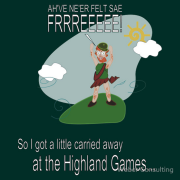 So I got a little carried away at the highland games. Never felt so free!! Keywords: So I got a little carried away at the highland games Never felt so free