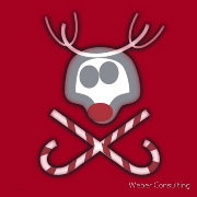 Rudolph Jolly Roger with Candy Canes Keywords: Rudolph Jolly Roger pirate Candy Canes