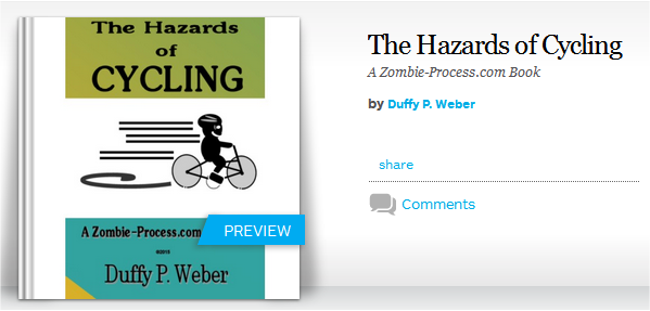 The Hazards of Cycling Blurb Book